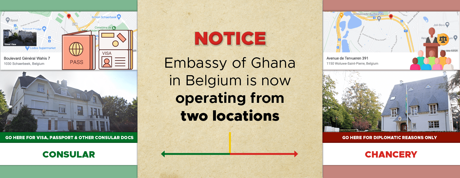 GHANA BRUSSELS TWO LOCATIONS